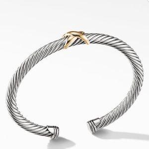 David Yurman X bracelet with 14K gold